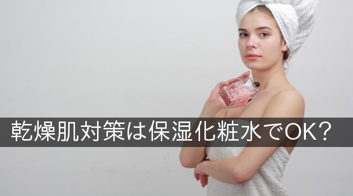 乾燥肌対策は保湿化粧水でOK?
