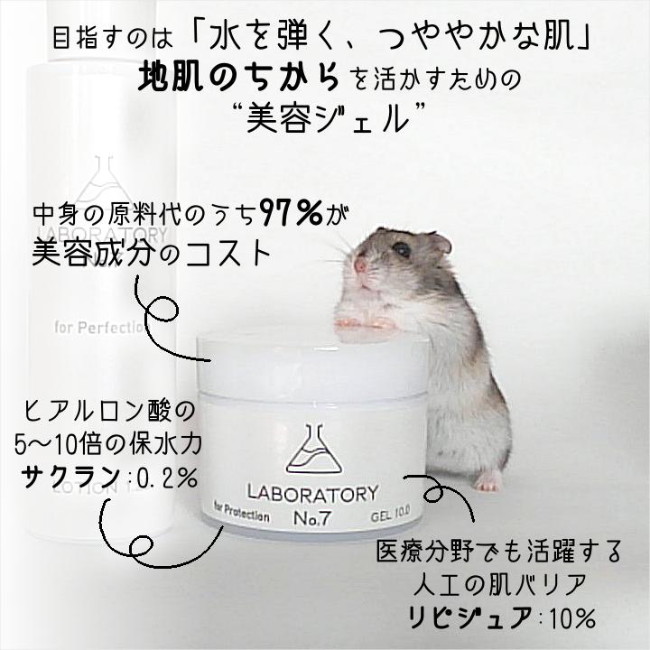 薬剤師のつくった美容ジェルLABORATORY No.7(ラボラトリーナンバーセブン)GEL10.0とジャンガリアンハムスター